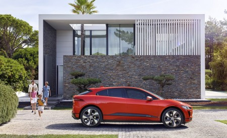 2019 Jaguar I-PACE (Color: Photon Red) Side Wallpapers 450x275 (95)