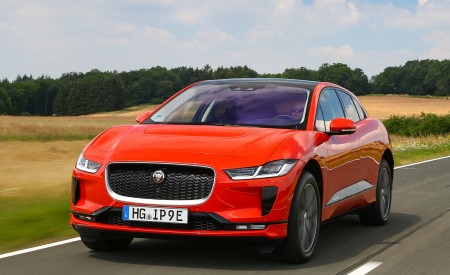 2019 Jaguar I-PACE EV400 AWD HSE First Edition (Color: Photon Red) Front Wallpapers 450x275 (7)