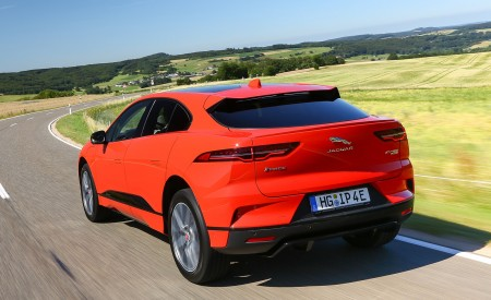 2019 Jaguar I-PACE EV400 AWD HSE First Edition (Color: Photon Red) Rear Three-Quarter Wallpapers 450x275 (18)
