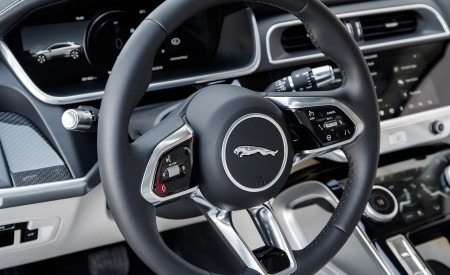 2019 Jaguar I-PACE EV400 AWD S (Color: Yulong White) Interior Steering Wheel Wallpapers 450x275 (186)