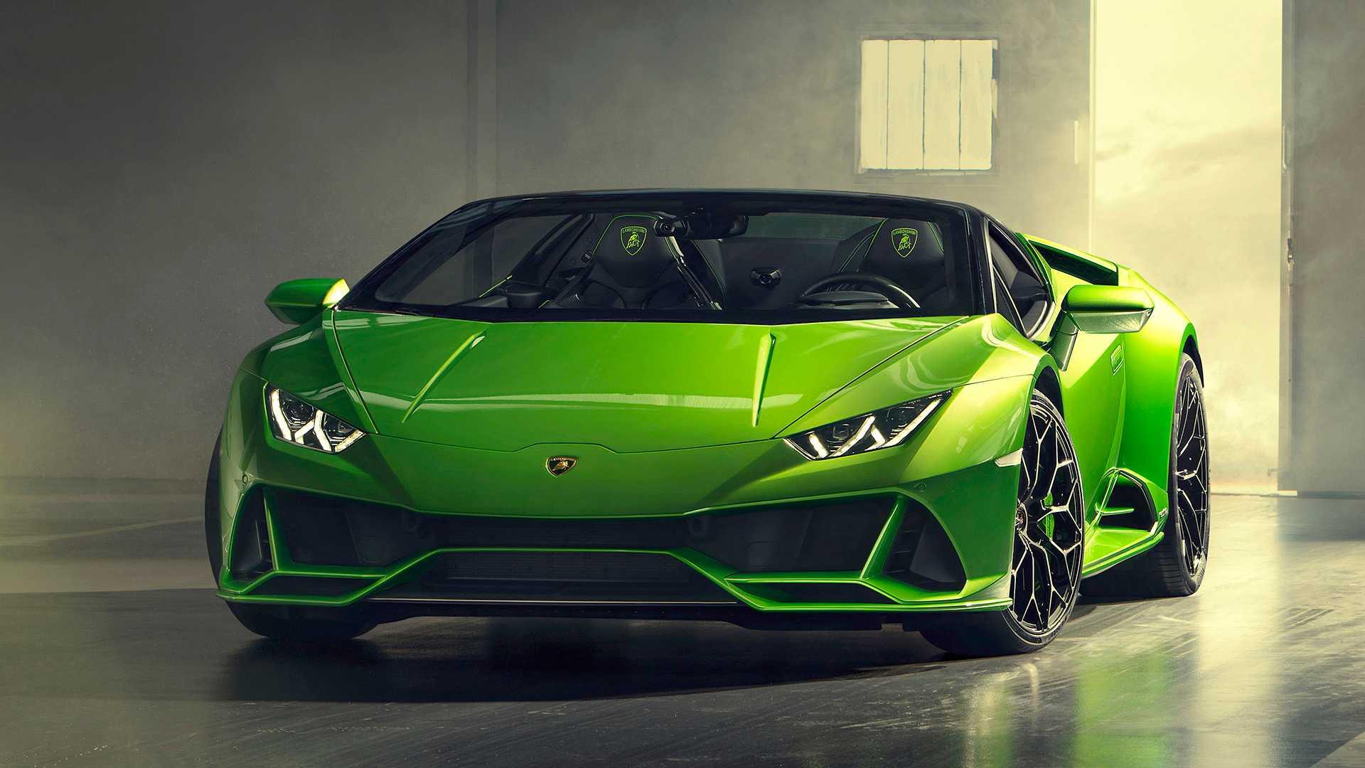 2019 Lamborghini Huracán EVO Spyder Front Three-Quarter Wallpaper (11)