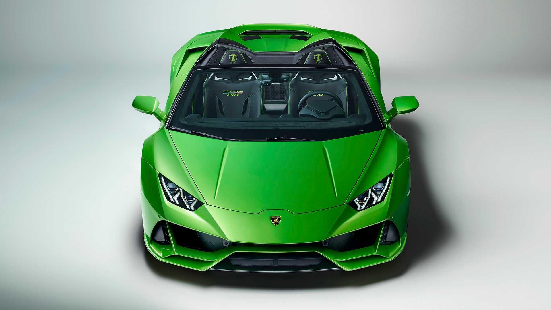 2019 Lamborghini Huracán EVO Spyder Front Wallpapers (21