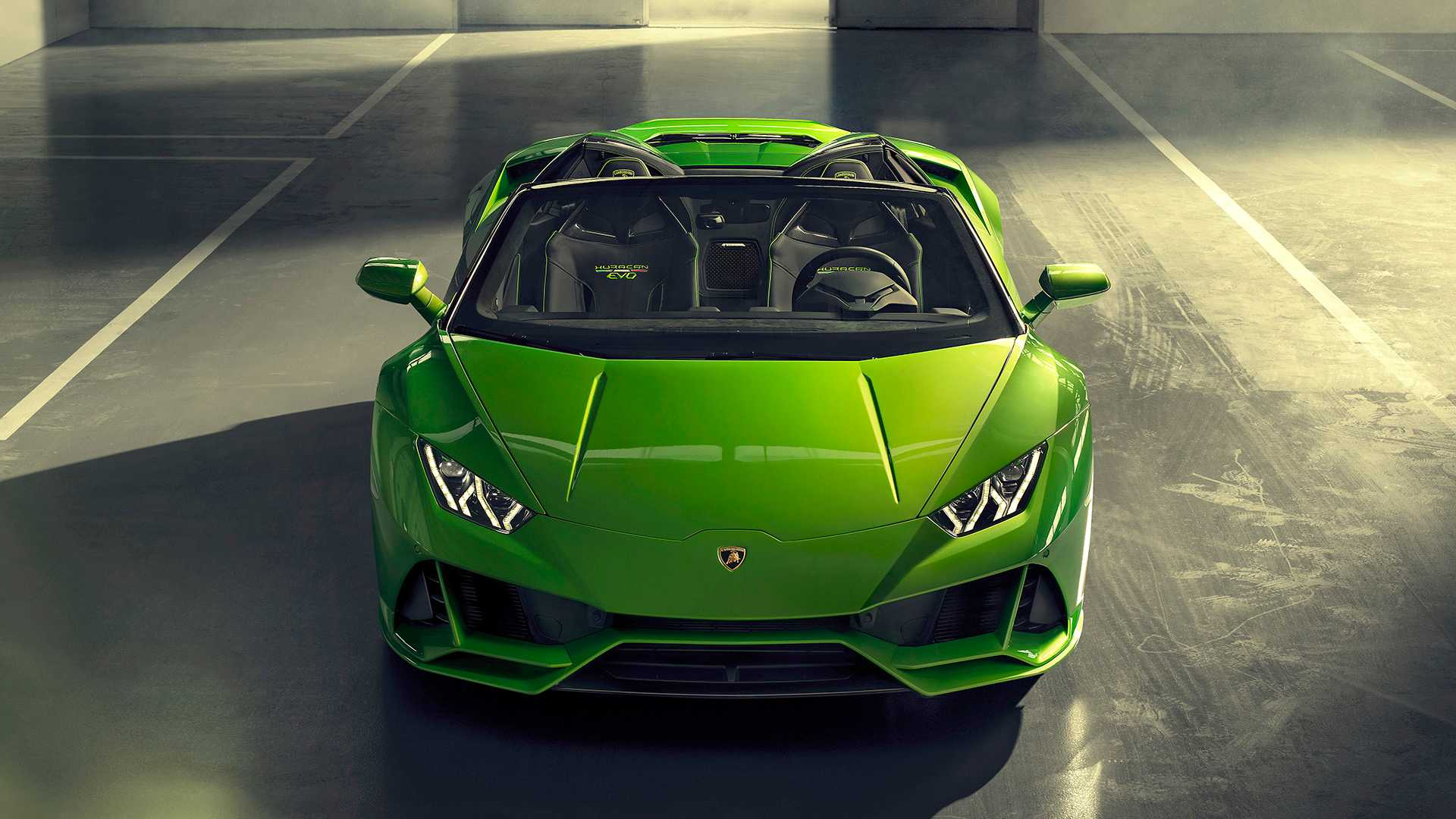2019 Lamborghini Huracán EVO Spyder Front Wallpaper (12)