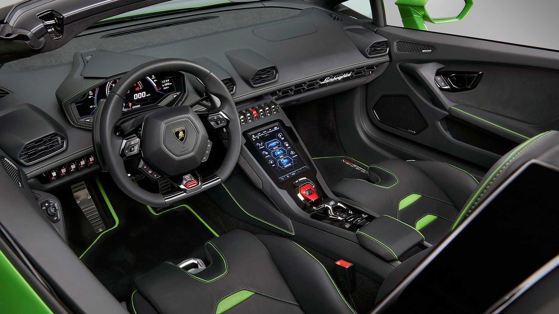2019 Lamborghini Huracán EVO Spyder Interior Cockpit