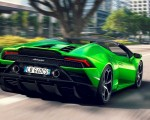 2019 Lamborghini Huracán EVO Spyder Rear Three-Quarter Wallpapers 150x120 (3)