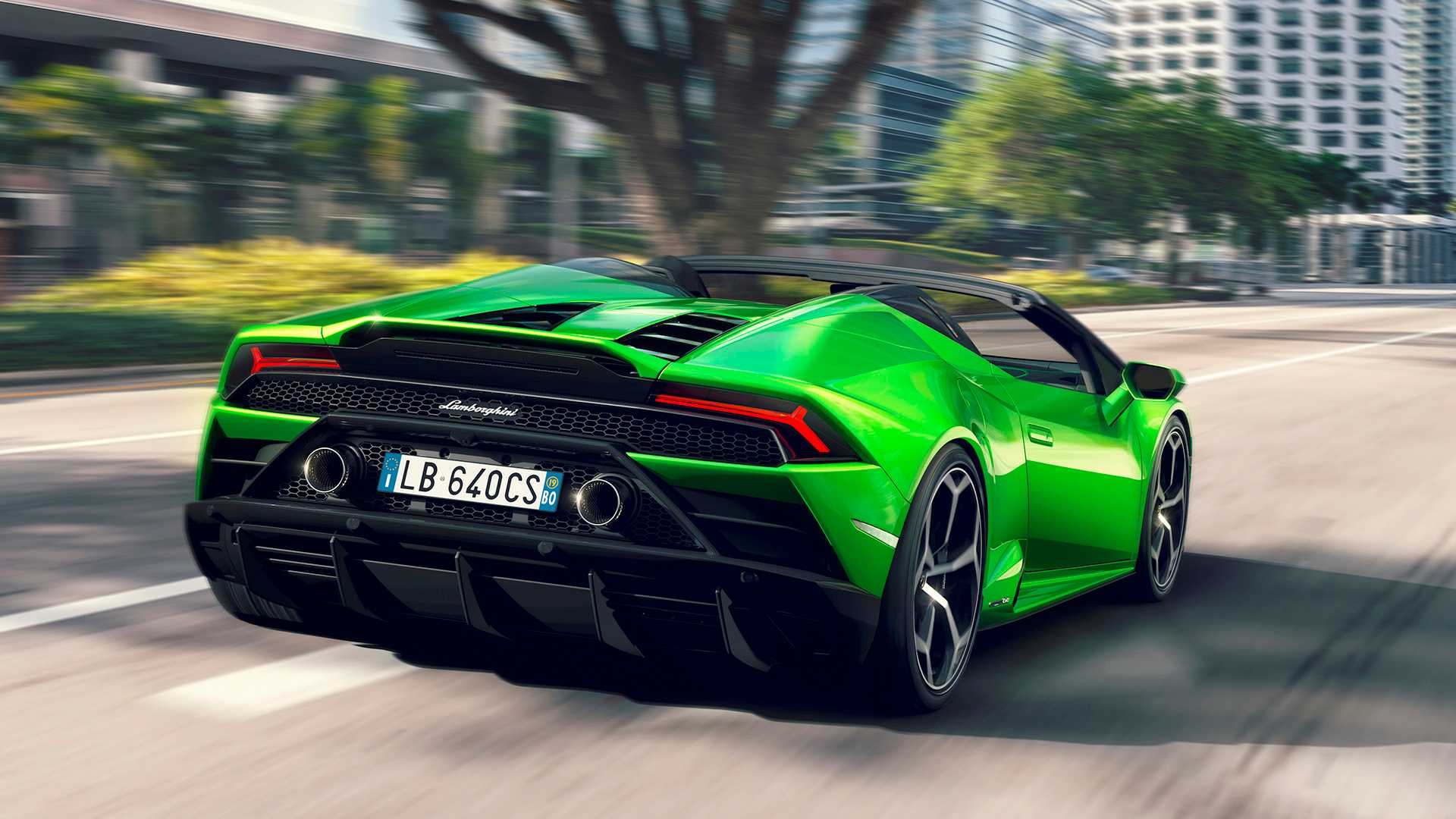 2019 Lamborghini Huracán EVO Spyder Rear Three-Quarter Wallpapers (3)