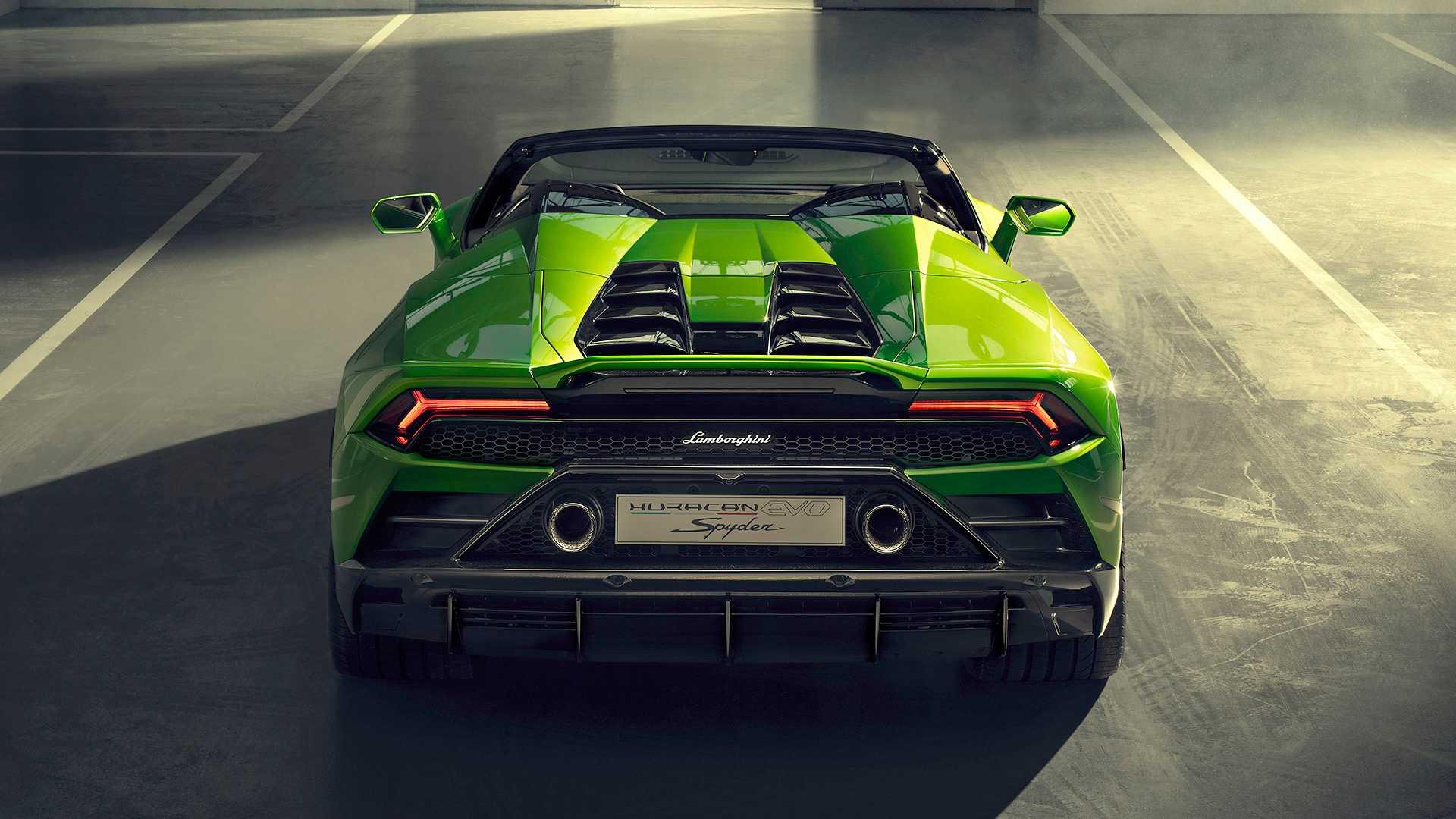 2019 Lamborghini Huracán EVO Spyder Rear Wallpaper (15)