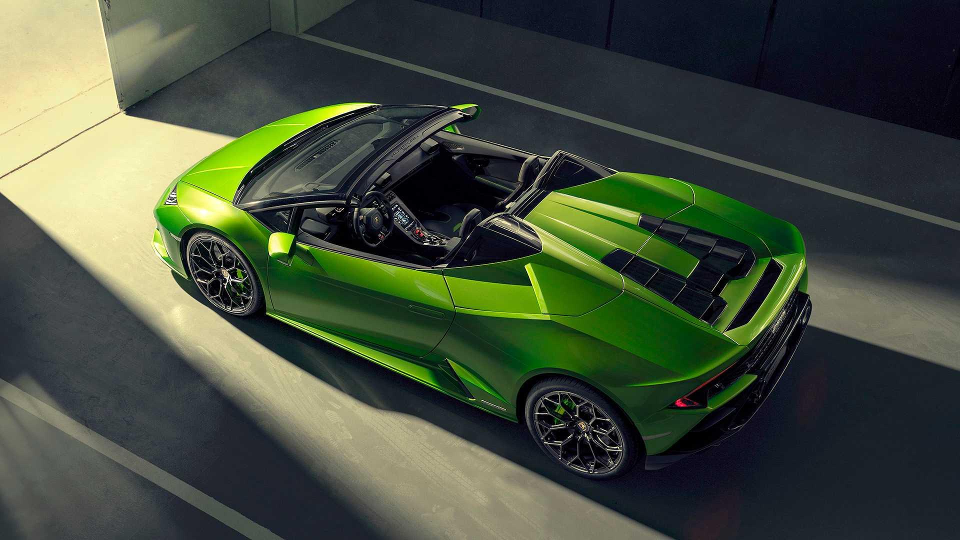 2019 Lamborghini Huracán EVO Spyder Top Wallpapers (17