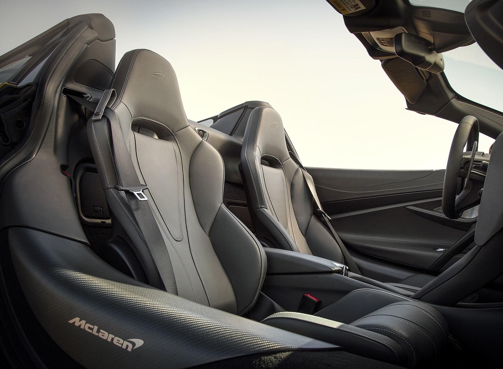 2019 McLaren 720S Spider (Color: Aztec Gold) Interior Seats Wallpapers (14)