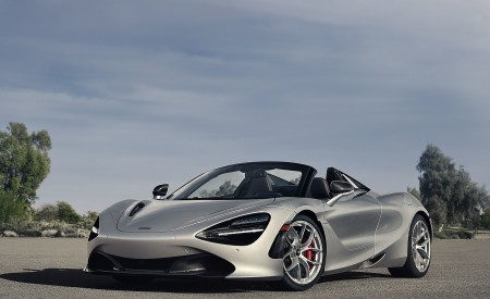 2019 McLaren 720S Spider (Color: Supernova Silver) Front Three-Quarter Wallpapers 450x275 (26)