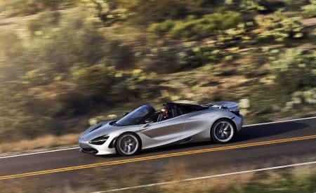 2019 McLaren 720S Spider (Color: Supernova Silver) Side Wallpapers 450x275 (23)