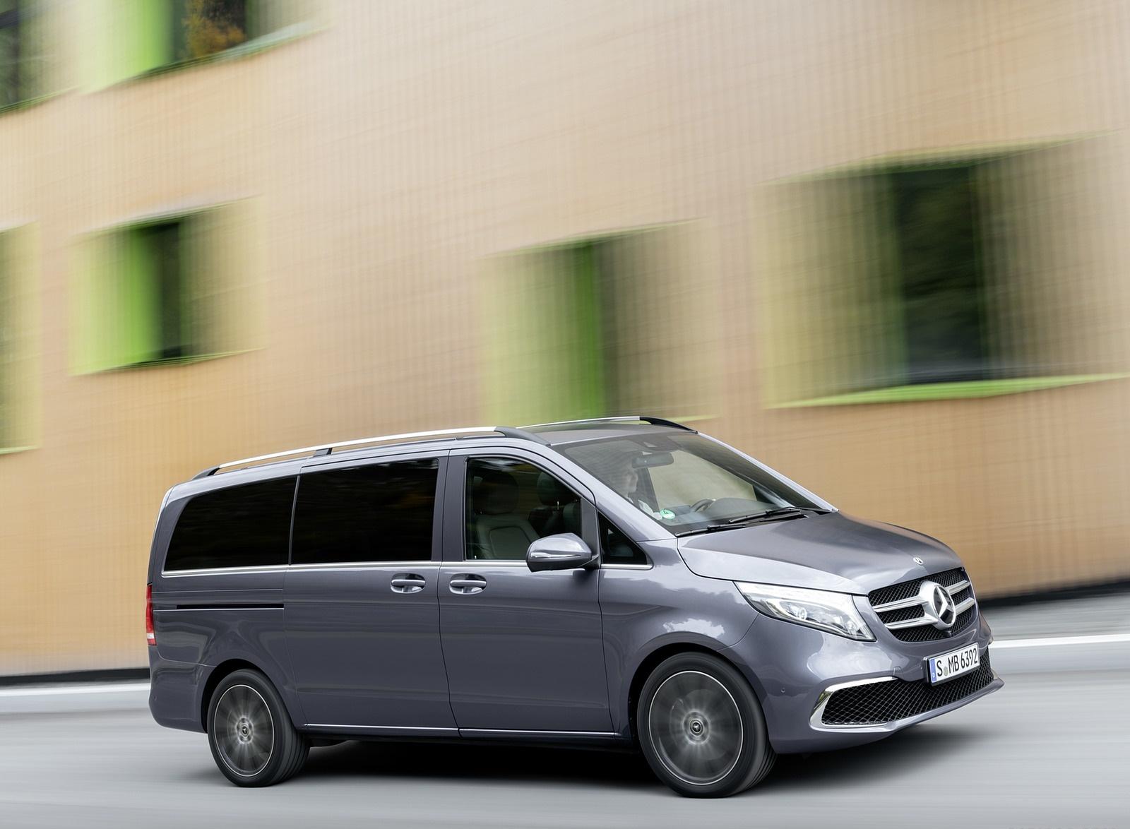 2019 Mercedes-Benz V-Class EXCLUSIVE Line (Color: Selenit Grey Metallic) Front Three-Quarter Wallpapers (9)