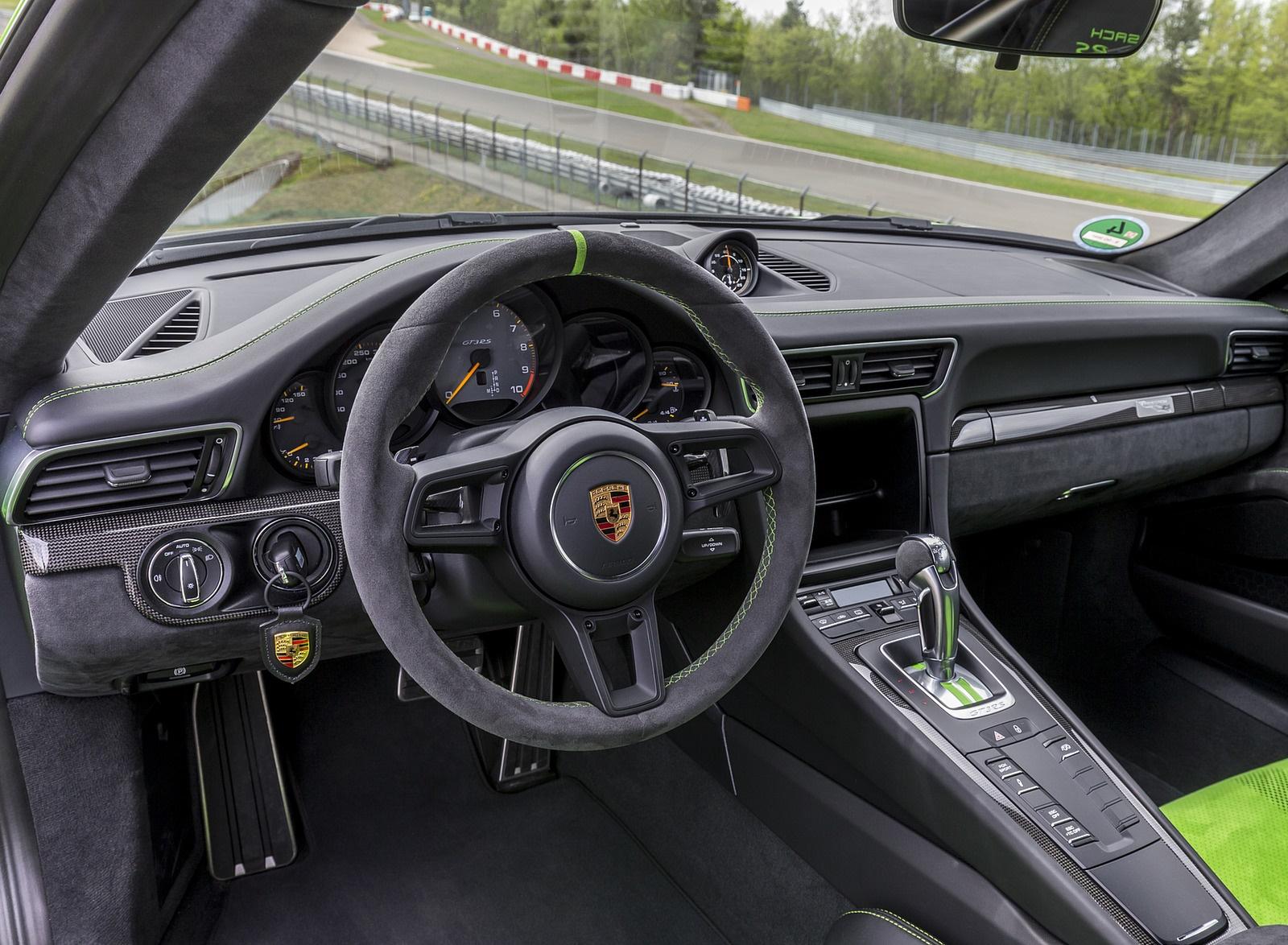 2019 Porsche 911 Gt3 Rs Weissach Package Color Lizard Green Interior Wallpapers 195 Newcarcars