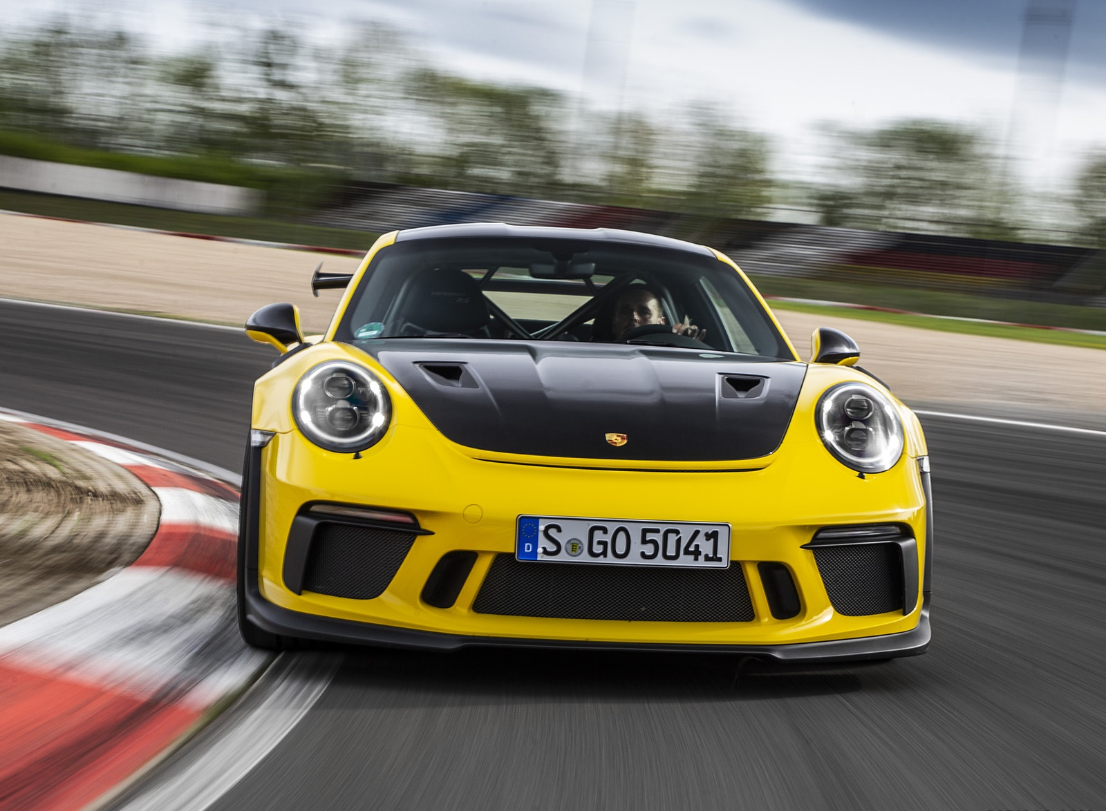 2019 Porsche 911 GT3 RS Weissach Package (Color: Racing Yellow) Front Wallpaper (1)