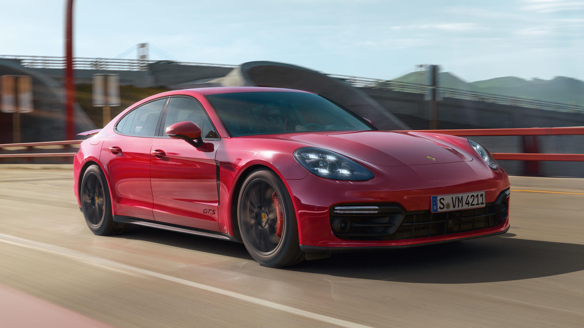 2019 Porsche Panamera GTS (Color: Carmine Red) Front Three-Quarter Wallpapers (3)