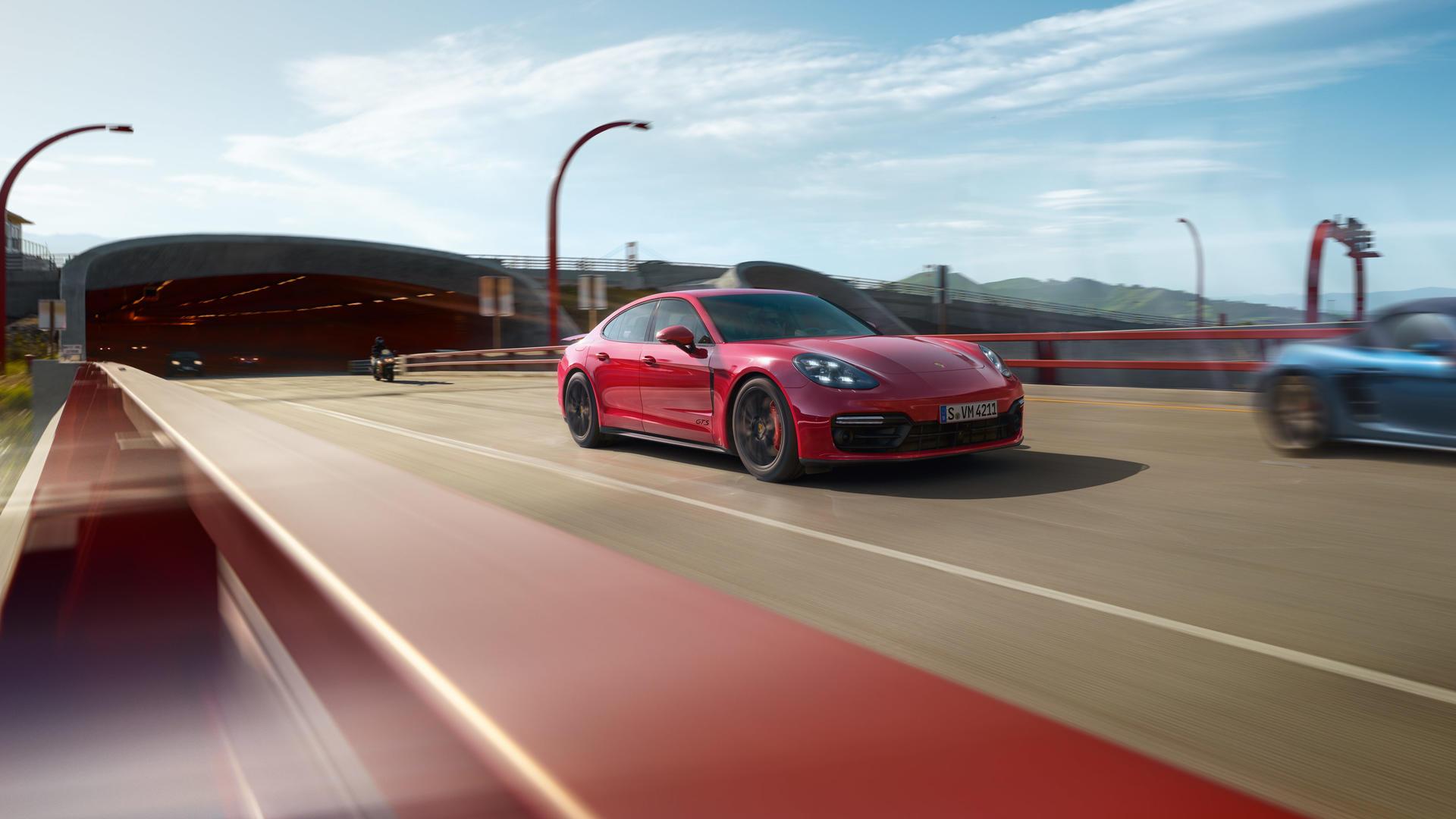 2019 Porsche Panamera GTS (Color: Carmine Red) Front Three-Quarter Wallpaper (2)