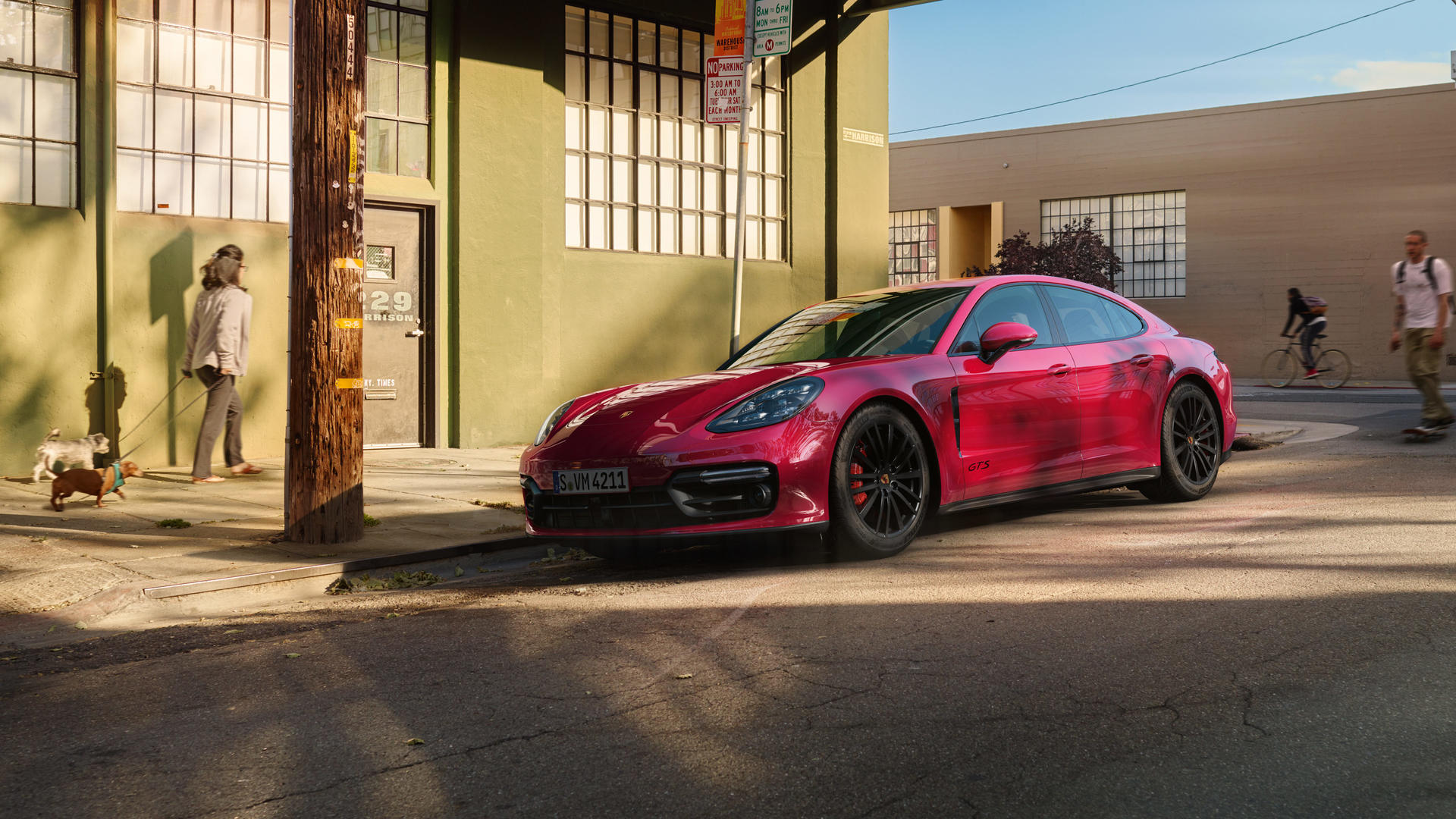 2019 Porsche Panamera GTS (Color: Carmine Red) Front Three-Quarter Wallpapers (8)