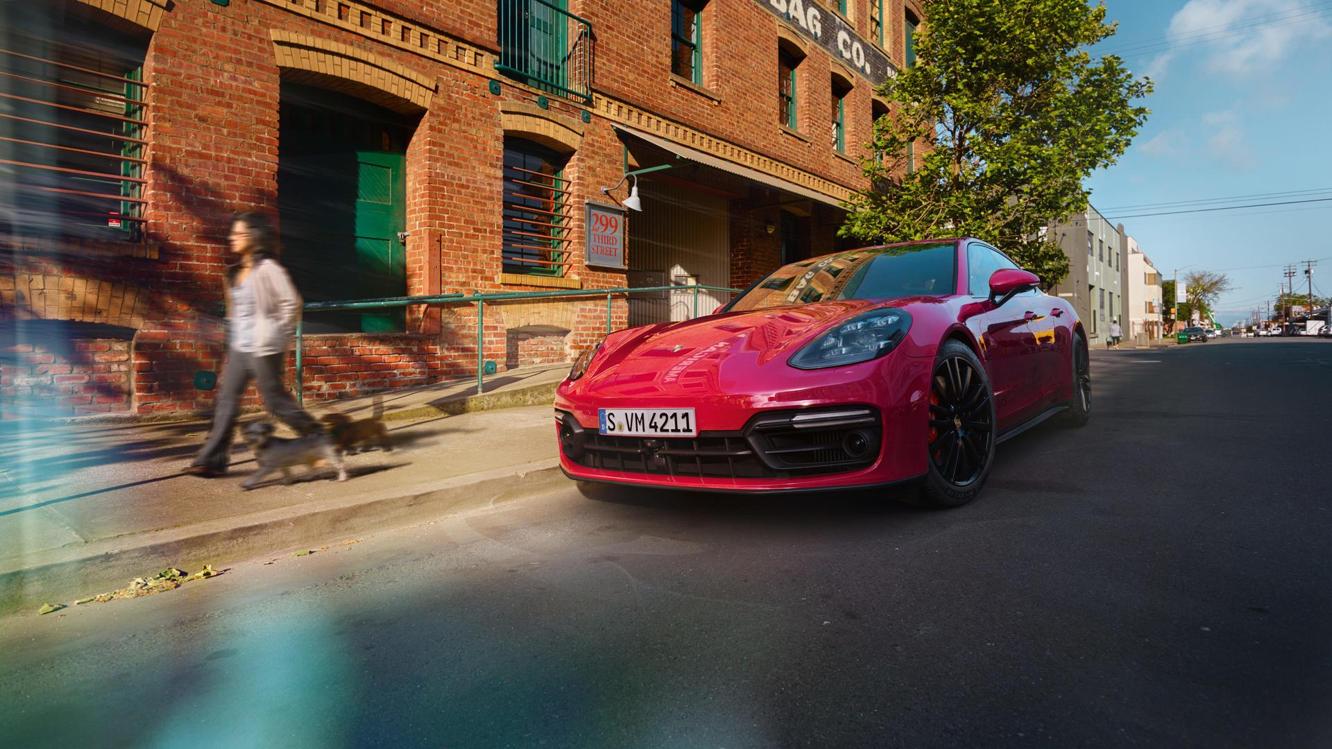 2019 Porsche Panamera GTS (Color: Carmine Red) Front Wallpaper (9)