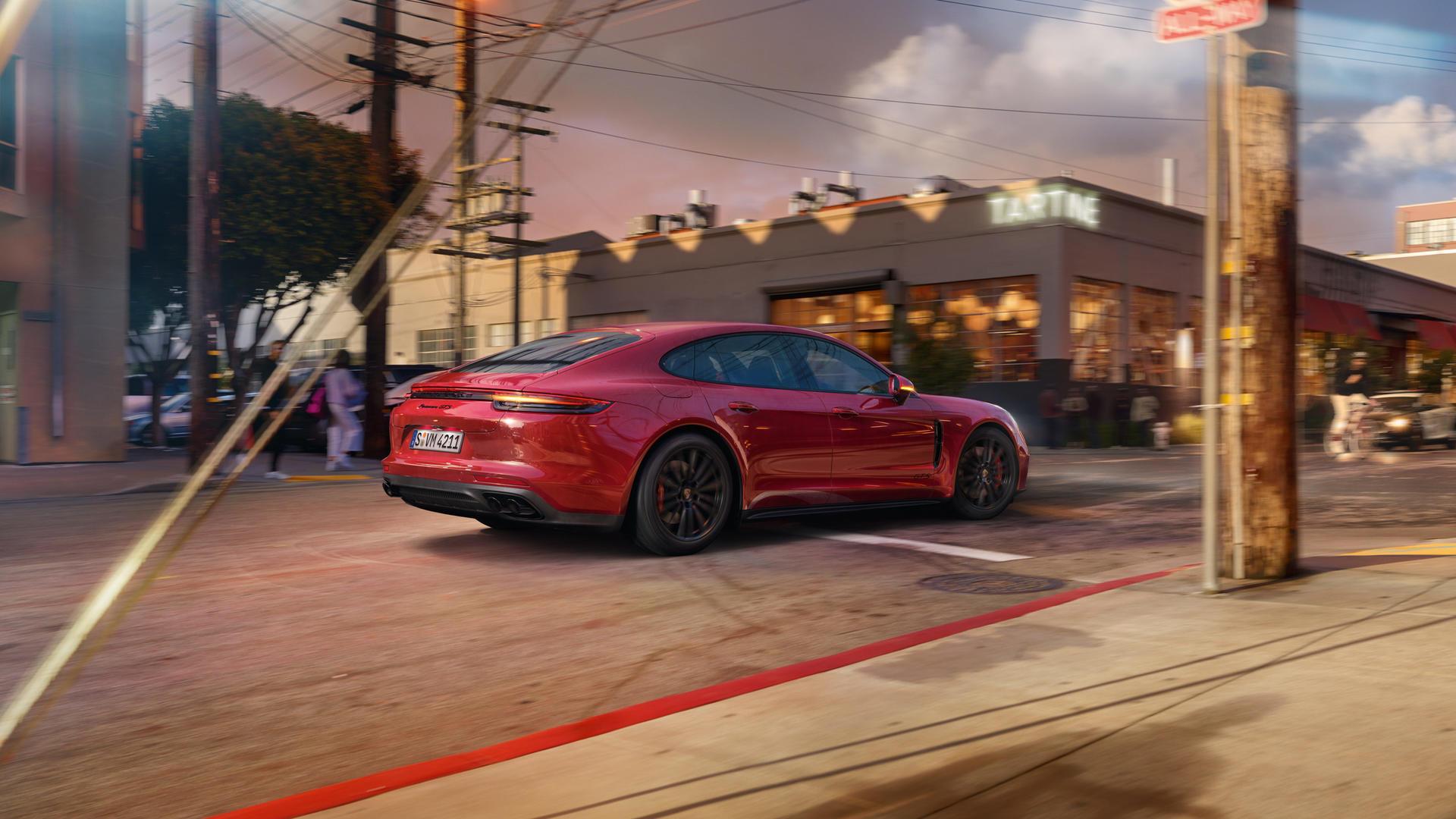 2019 Porsche Panamera GTS (Color: Carmine Red) Rear Three-Quarter Wallpaper (10)