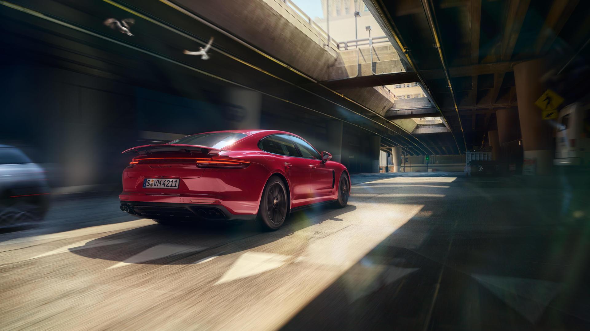 2019 Porsche Panamera GTS (Color: Carmine Red) Rear Wallpaper (5)