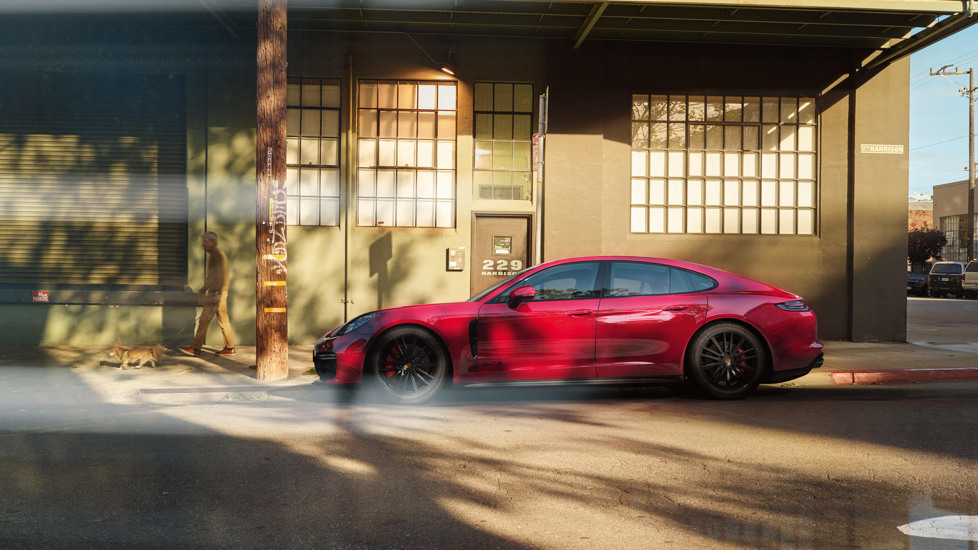 2019 Porsche Panamera GTS (Color: Carmine Red) Side Wallpaper (7)