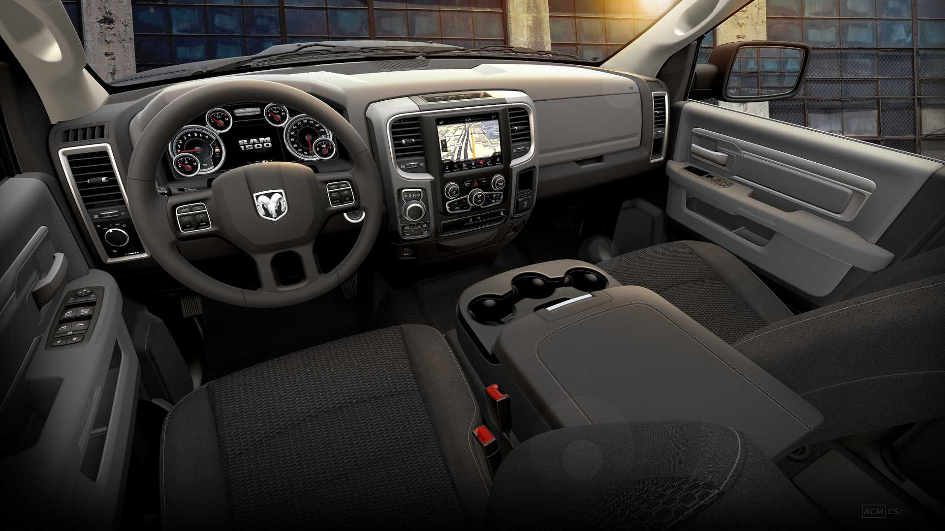 2019 Ram 1500 Classic Warlock Interior Cockpit Wallpapers (12)