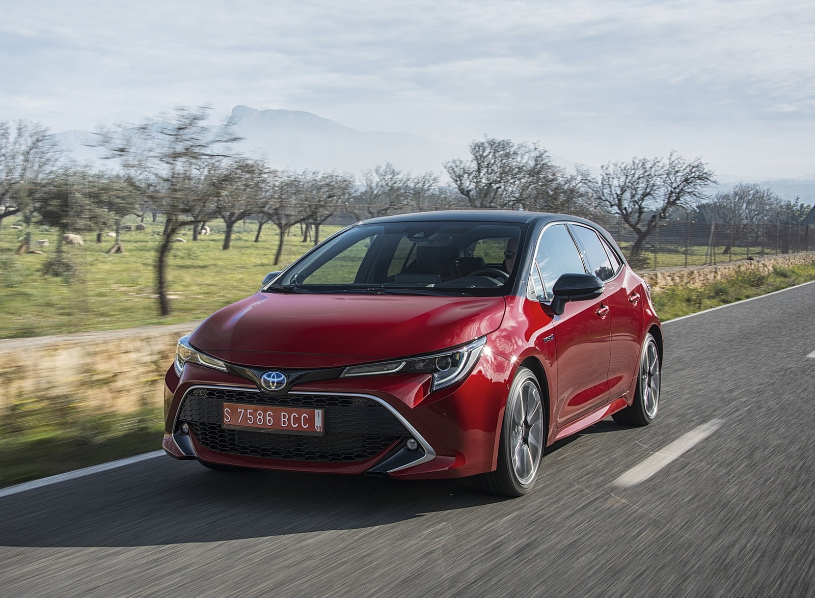 2019 Toyota Corolla Hatchback Hybrid 2.0L Red bitone (EU-Spec) Front Three-Quarter Wallpapers (5)