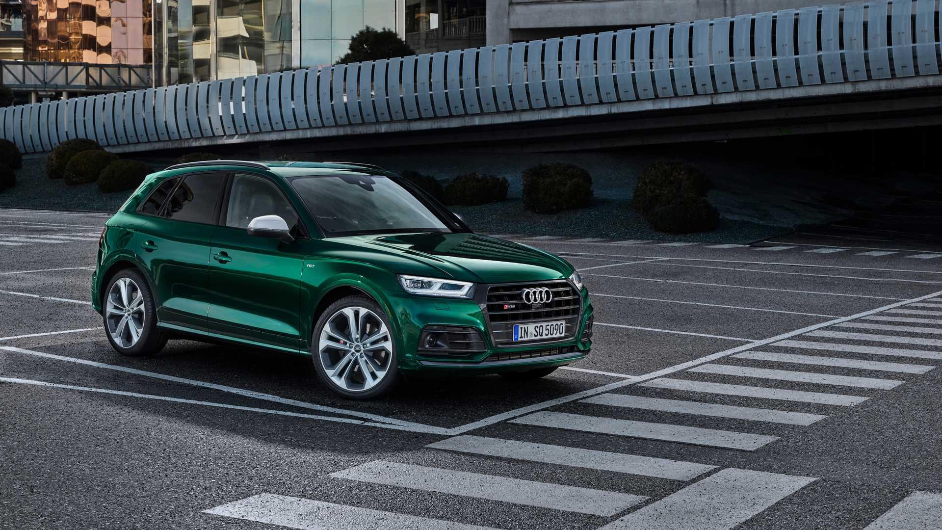 2020 Audi SQ5 TDI (Color: Azores Green Metallic) Front Three-Quarter Wallpapers (9)