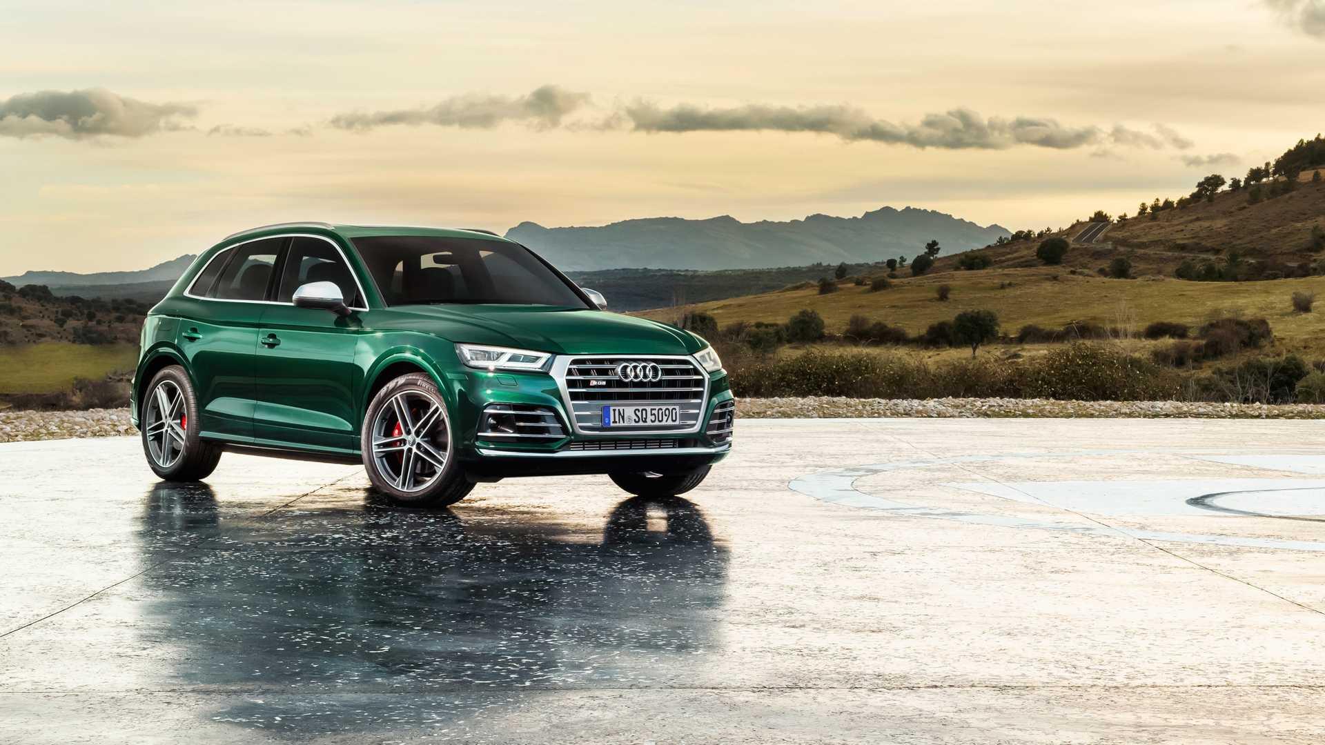 2020 Audi SQ5 TDI (Color: Azores Green Metallic) Front Three-Quarter Wallpapers (7)