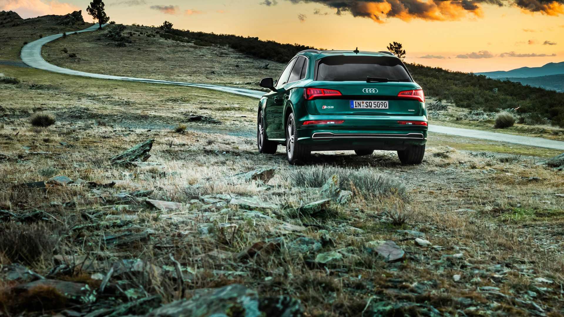 2020 Audi SQ5 TDI (Color: Azores Green Metallic) Rear Wallpapers (4)