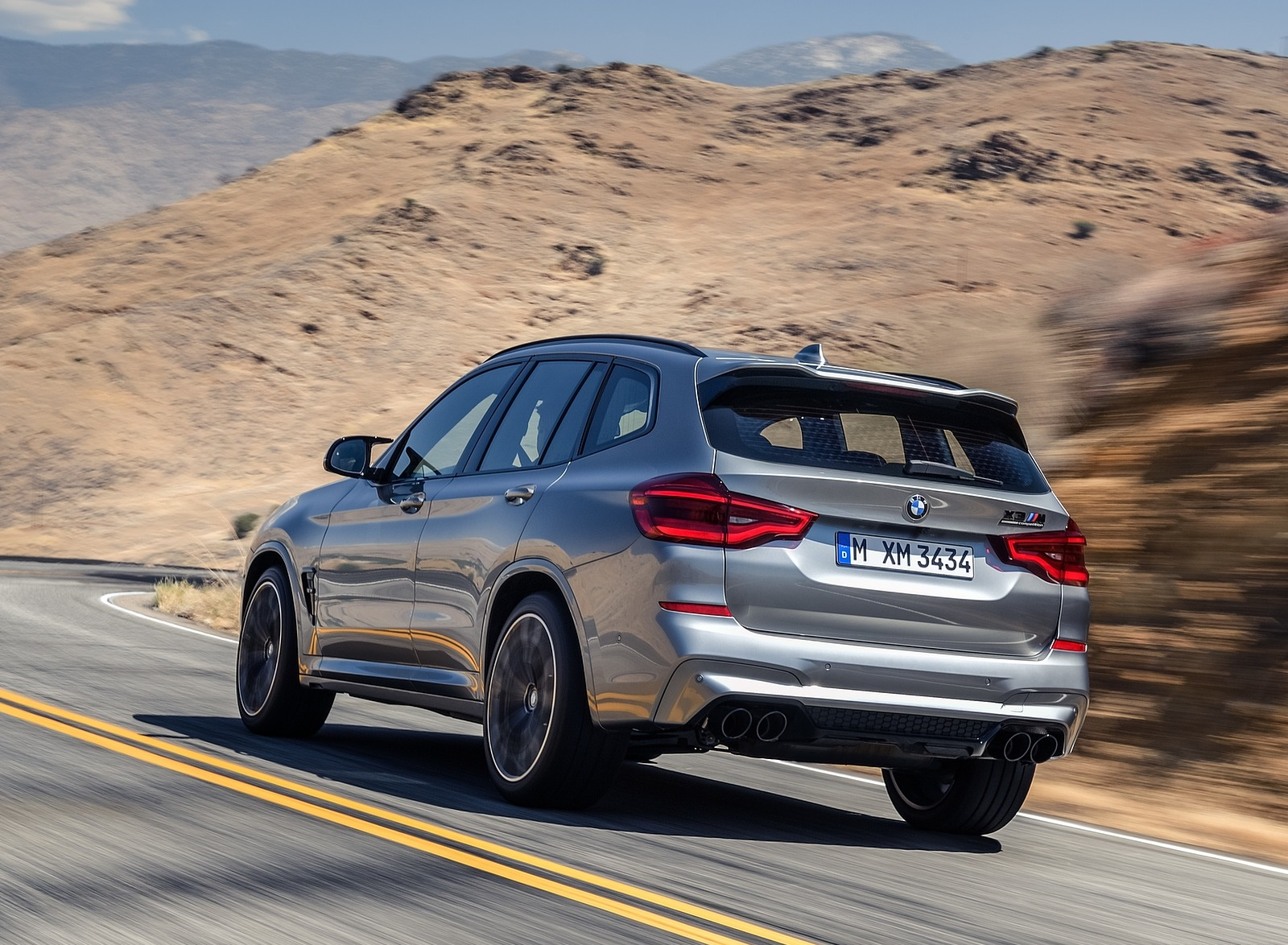 2020 BMW X3 M Competition Rear Three-Quarter Wallpaper (12)