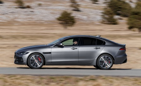 2020 Jaguar XE S D180 (Color: Eiger Grey) Side Wallpapers 450x275 (39)