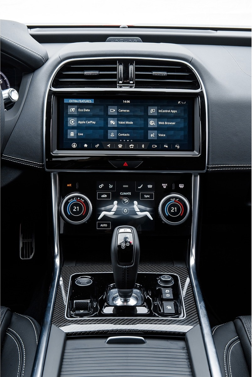 2020 Jaguar XE S R-Dynamic P300 (Color: Caldera Red) Central Console Wallpapers #31 of 138