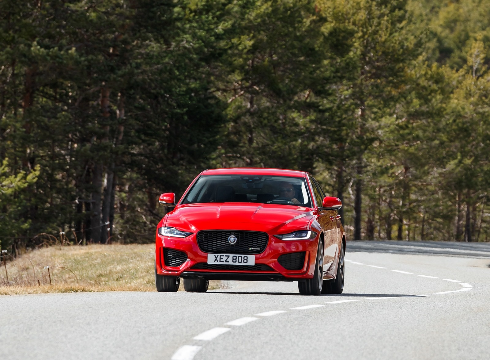 2020 Jaguar XE S R-Dynamic P300 (Color: Caldera Red) Front Wallpapers (3)