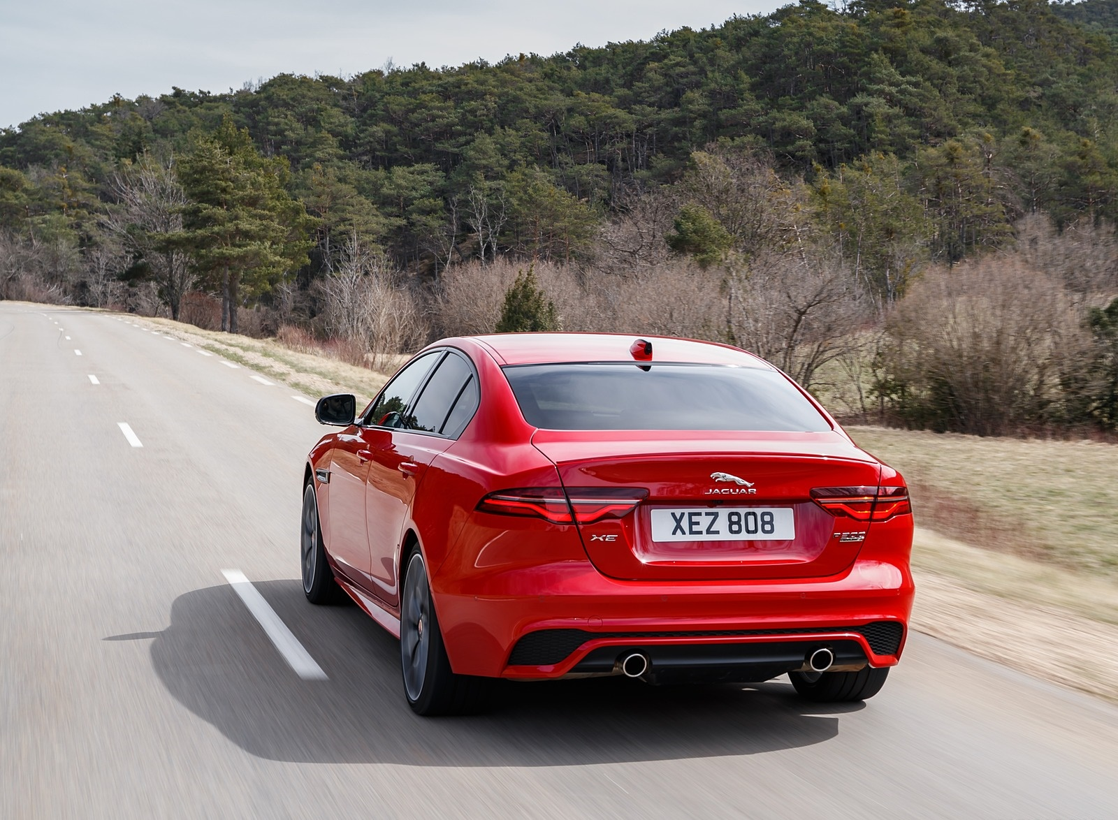2020 Jaguar XE S R-Dynamic P300 (Color: Caldera Red) Rear Three-Quarter Wallpapers (4)