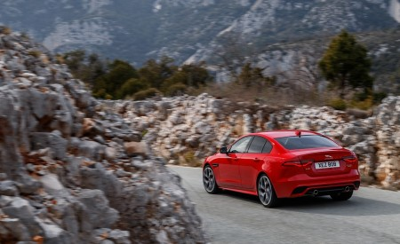 2020 Jaguar XE S R-Dynamic P300 (Color: Caldera Red) Rear Three-Quarter Wallpapers 450x275 (5)