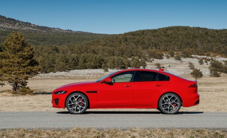 2020 Jaguar XE S R-Dynamic P300 (Color: Caldera Red) Side Wallpapers 450x275 (19)