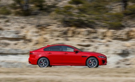2020 Jaguar XE S R-Dynamic P300 (Color: Caldera Red) Side Wallpapers 450x275 (7)