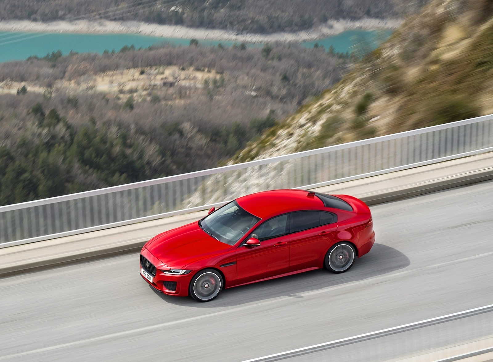 2020 Jaguar XE S R-Dynamic P300 (Color: Caldera Red) Top Wallpapers (8)