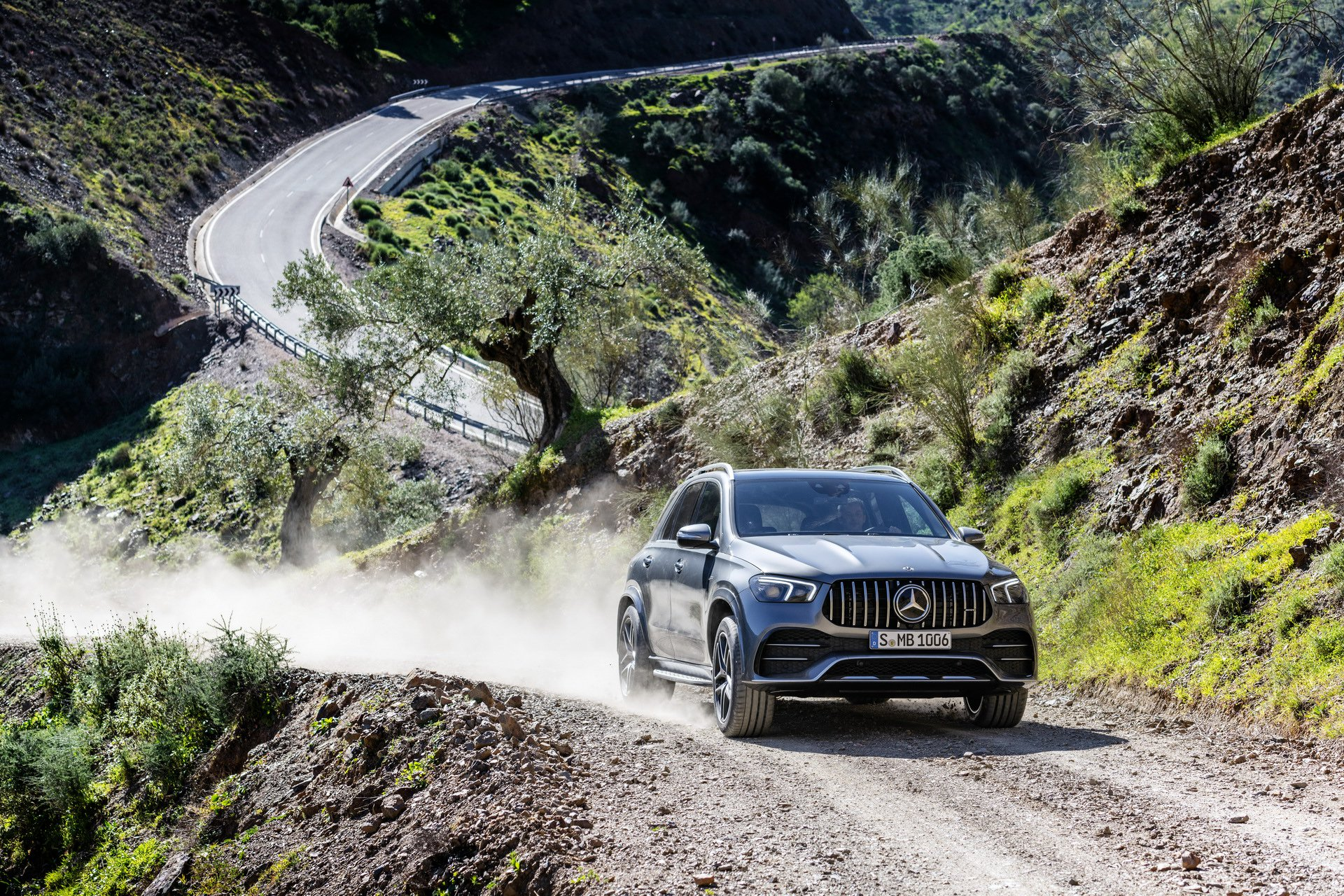 2020 Mercedes-AMG GLE 53 4MATIC+ (Color: Selenite Grey) Off-Road Wallpapers (14)