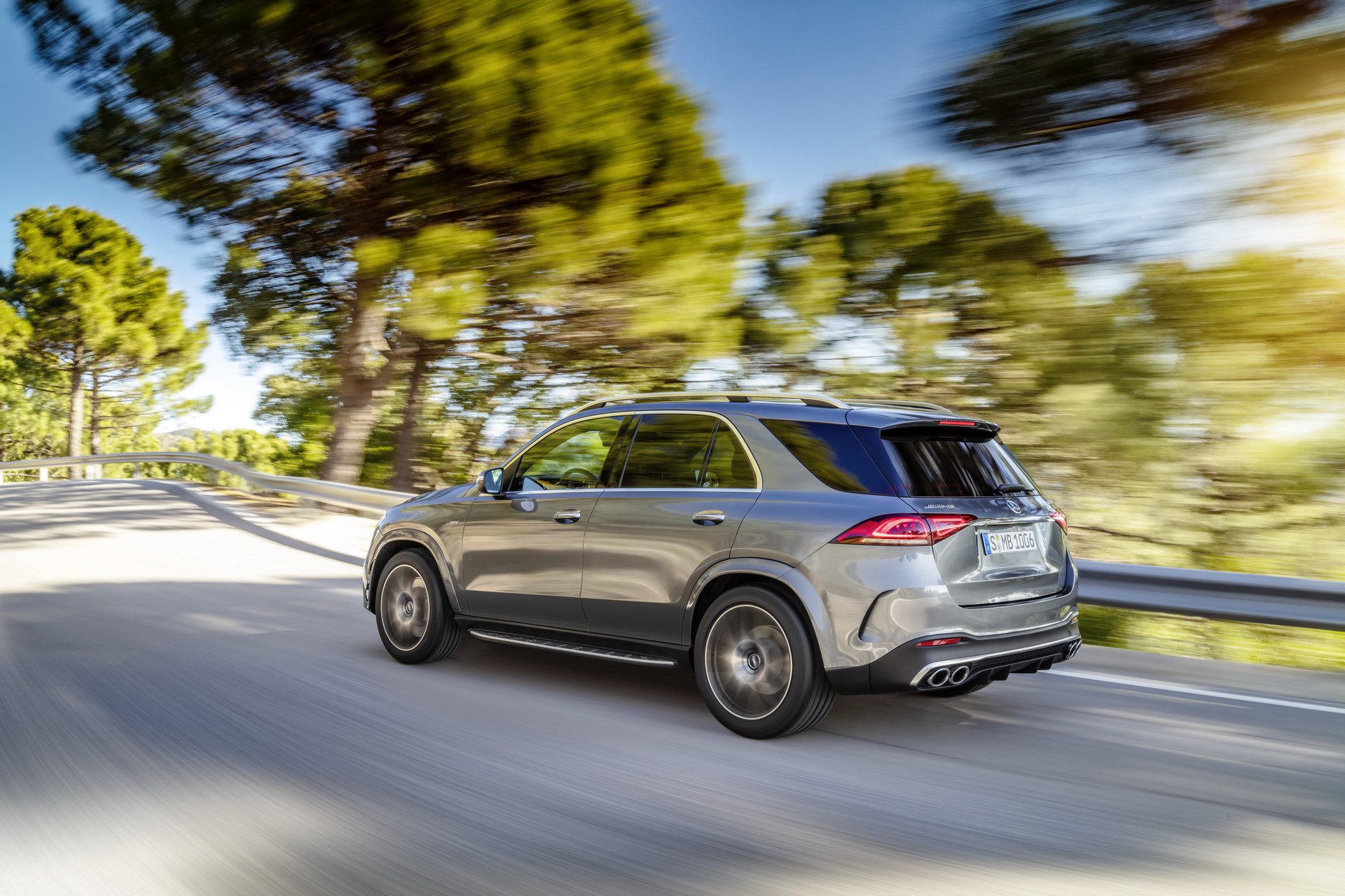 2020 Mercedes-AMG GLE 53 4MATIC+ (Color: Selenite Grey) Rear Three-Quarter Wallpapers (4)