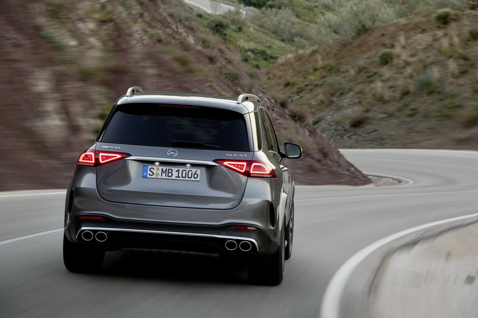 2020 Mercedes-AMG GLE 53 4MATIC+ (Color: Selenite Grey) Rear Wallpapers (9)