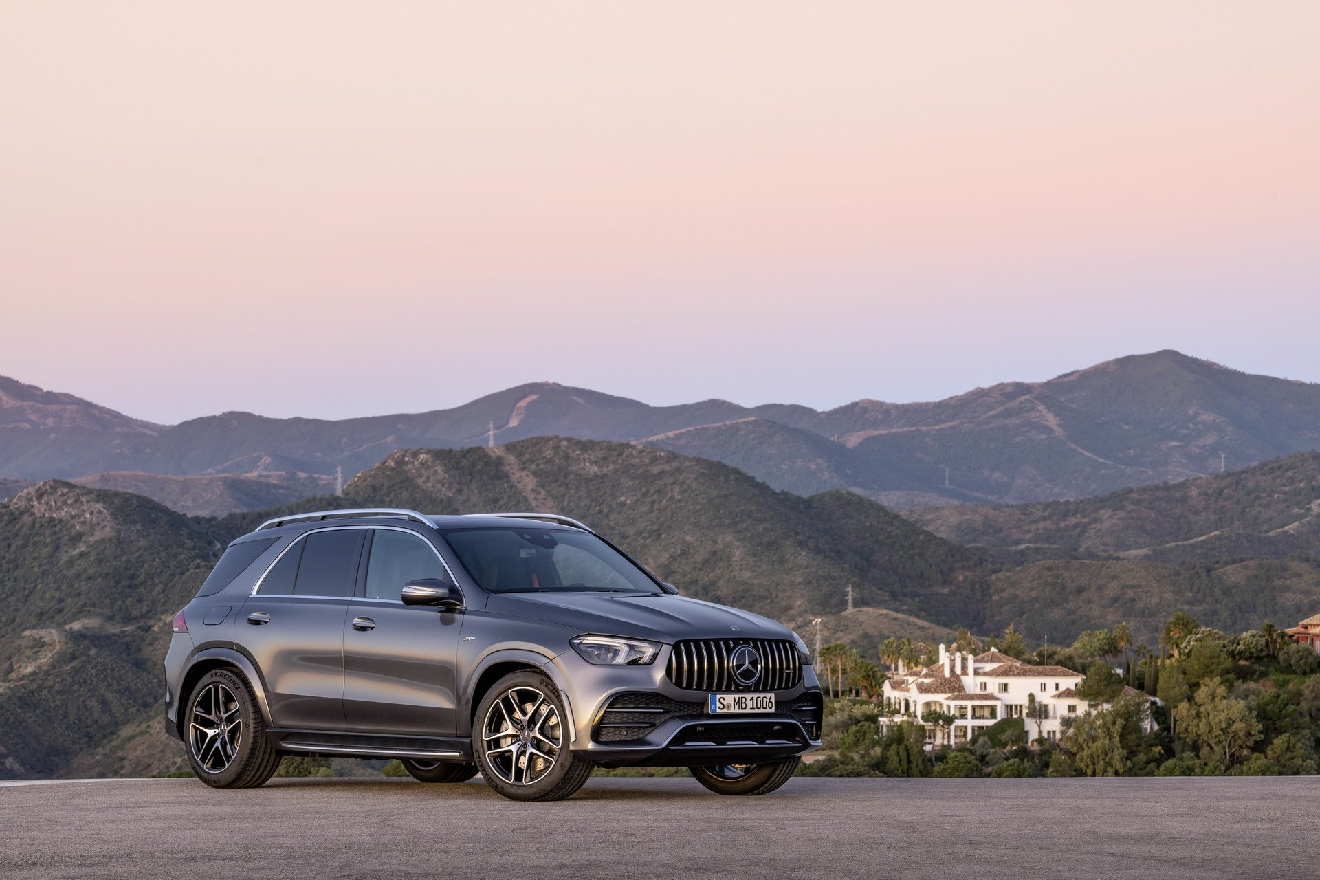 2020 Mercedes-AMG GLE 53 4MATIC+ (Color: Selenite Grey) Side Wallpapers (12)