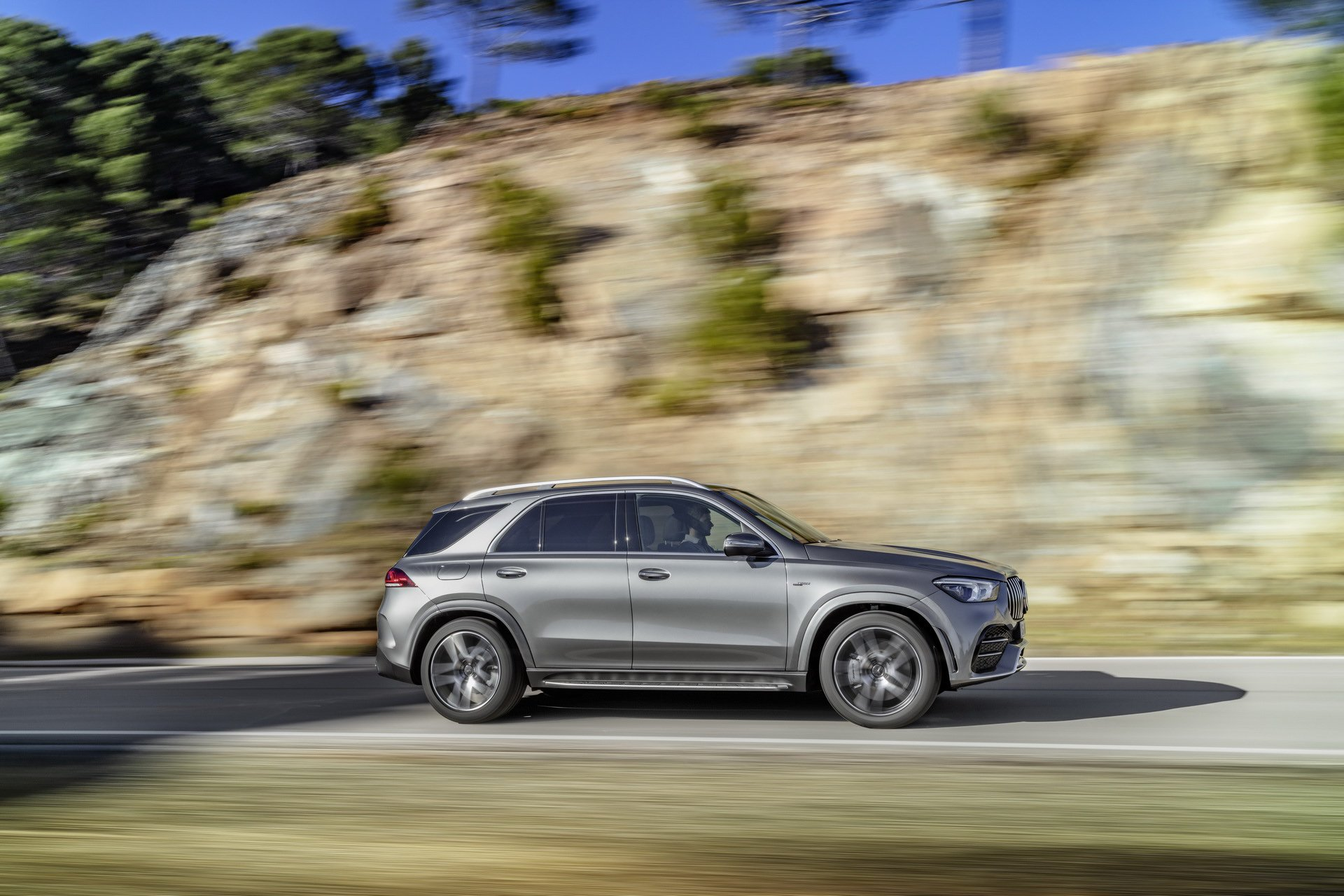 2020 Mercedes-AMG GLE 53 4MATIC+ (Color: Selenite Grey) Side Wallpapers (10)