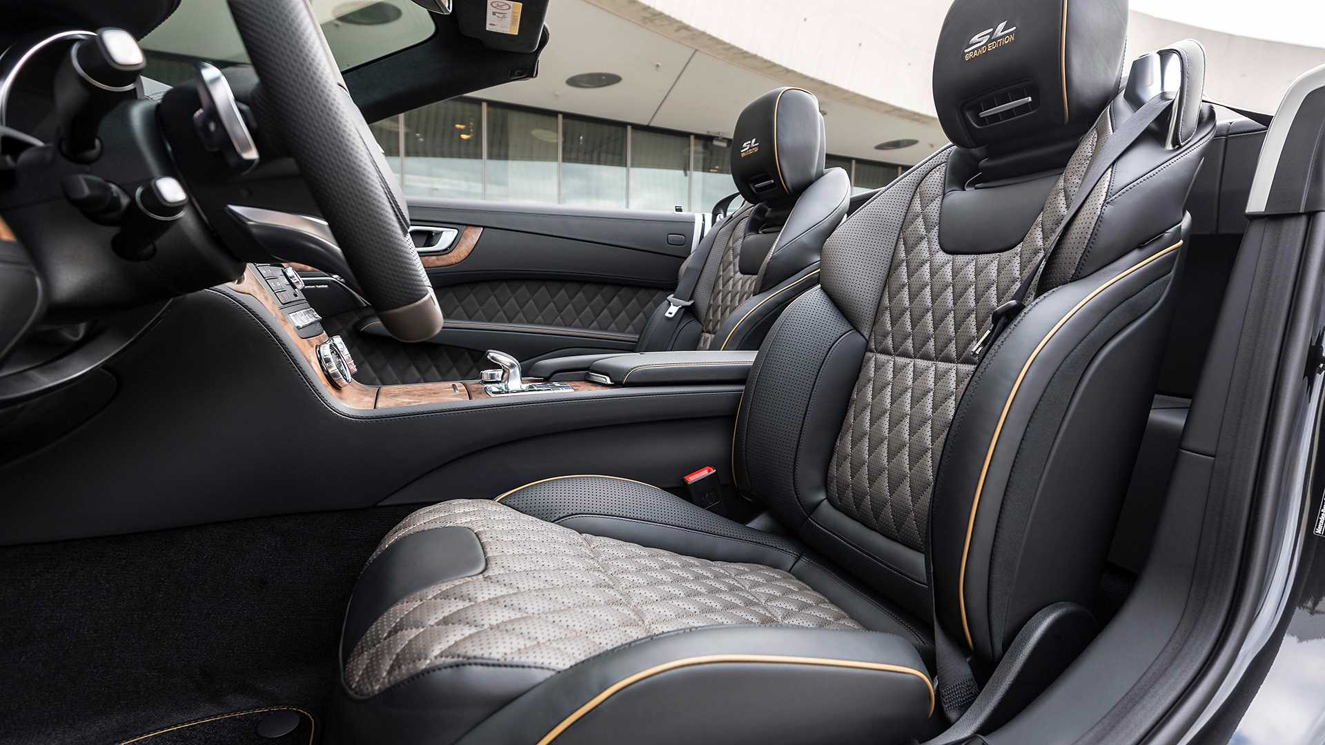 2020 Mercedes-Benz SL 500 Grand Edition (Color: Graphite Grey) Interior Seats Wallpapers (10)