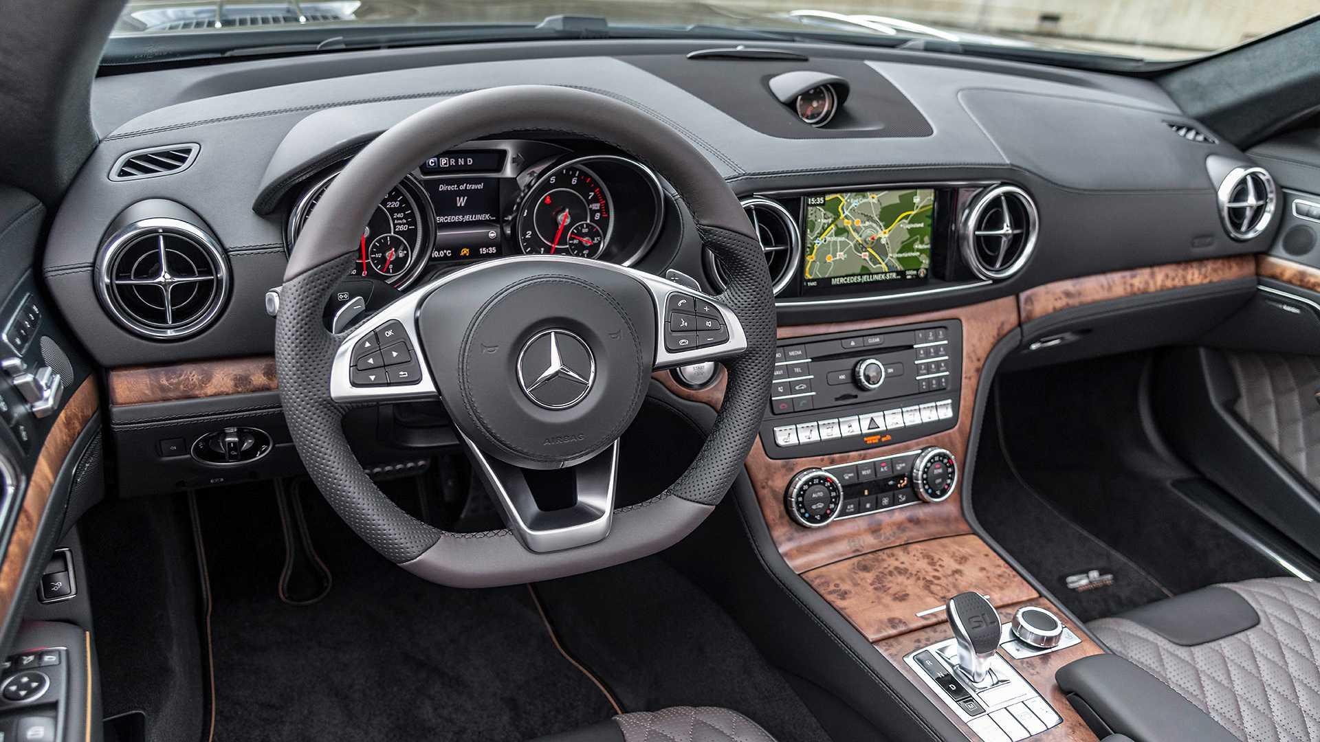 2020 Mercedes-Benz SL 500 Grand Edition (Color: Graphite Grey) Interior Wallpapers (12)