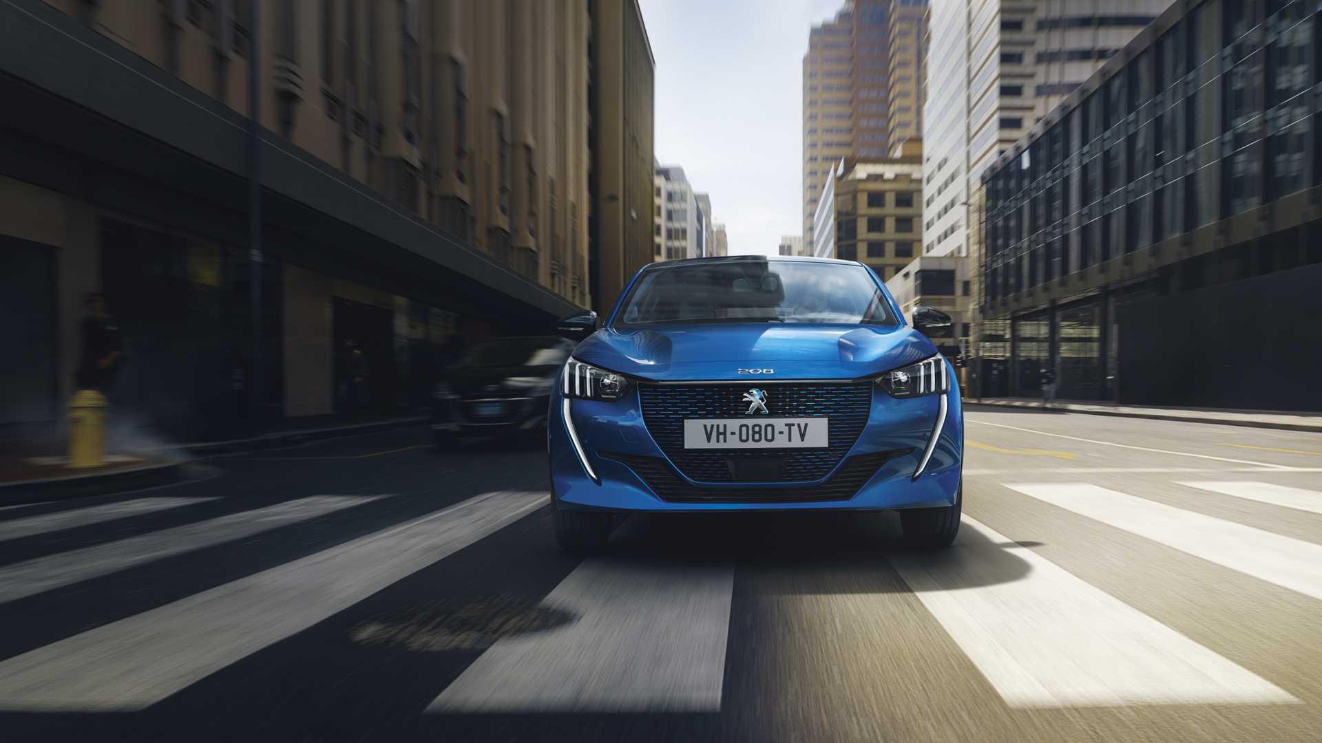 2020 Peugeot e-208 EV Front Wallpapers (1)