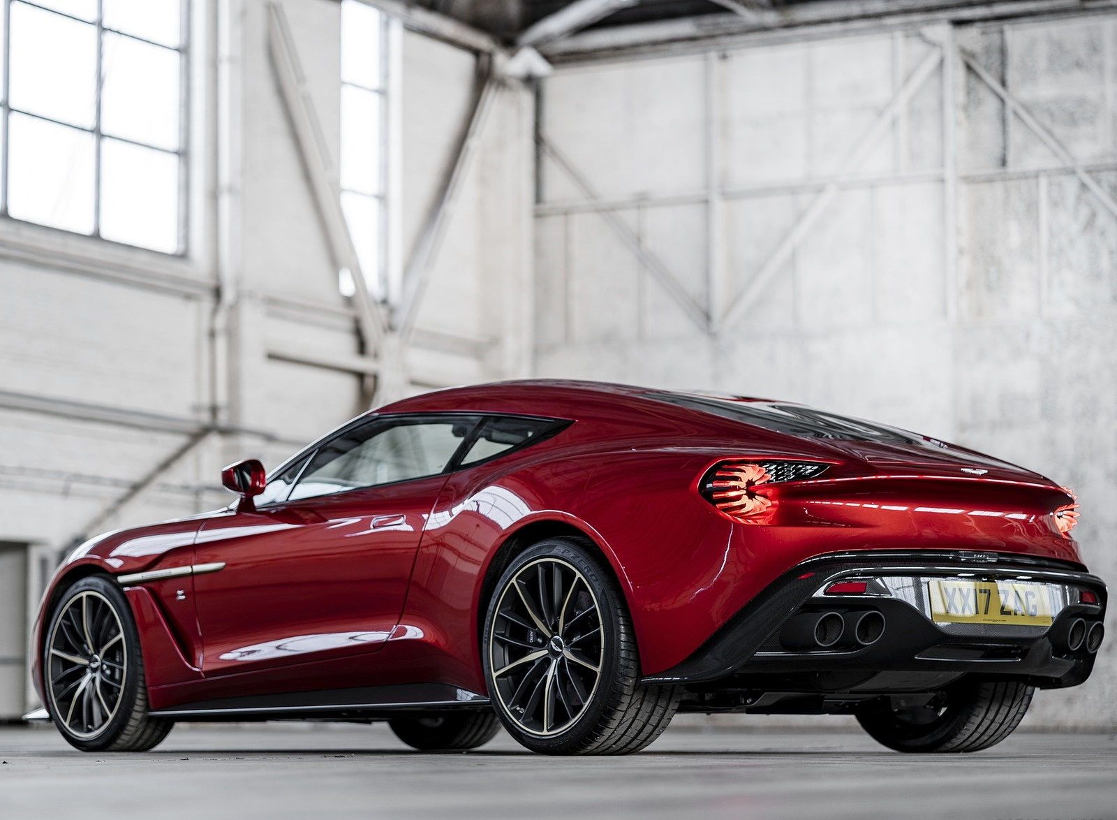 2018 Aston Martin Vanquish Zagato Coupe Rear Three Quarter Wallpapers 3 Newcarcars