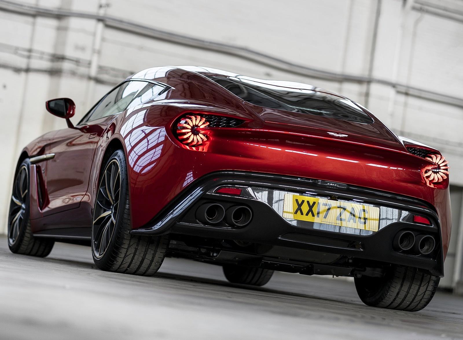 2018 Aston Martin Vanquish Zagato Coupe Rear Wallpapers 12 Newcarcars