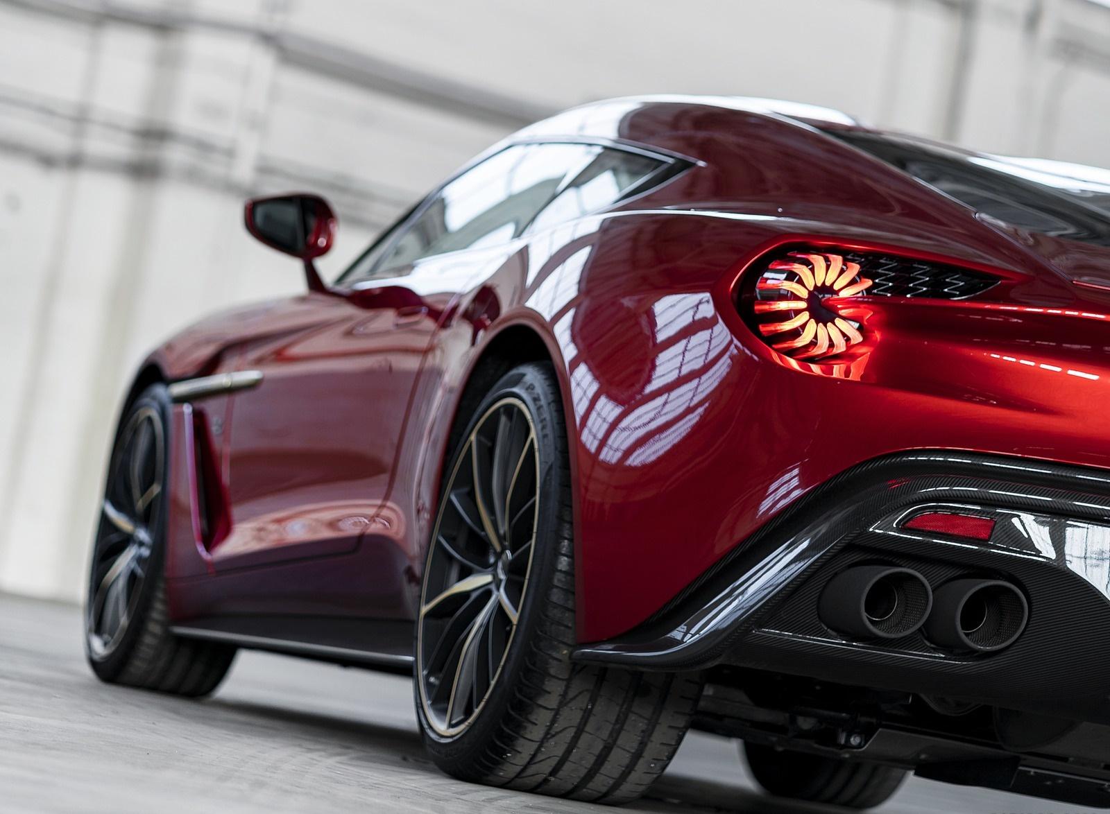 2018 Aston Martin Vanquish Zagato Coupe Tail Light Wallpapers 14 Newcarcars